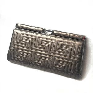 Apt.9 Silver-Grey Faux Leather Clutch